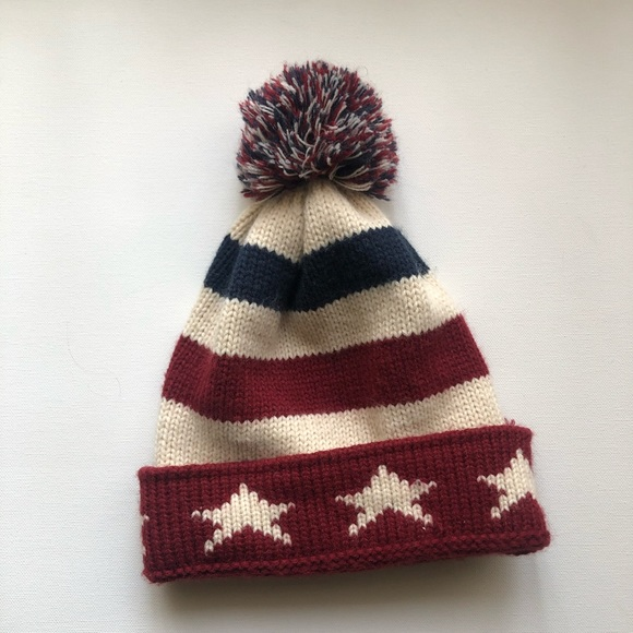 Accessories - 🍭Vintage American Flag Pom-Pom Beanie